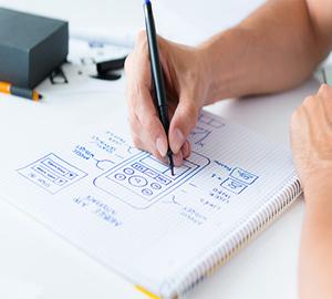 Дизайн сайта на бумаге