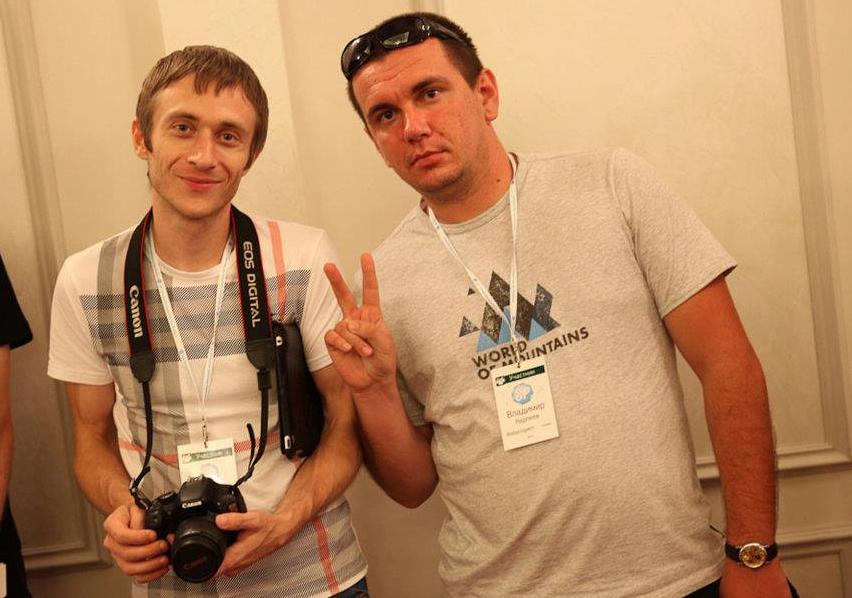 Владимир Карпеев со своим братом.