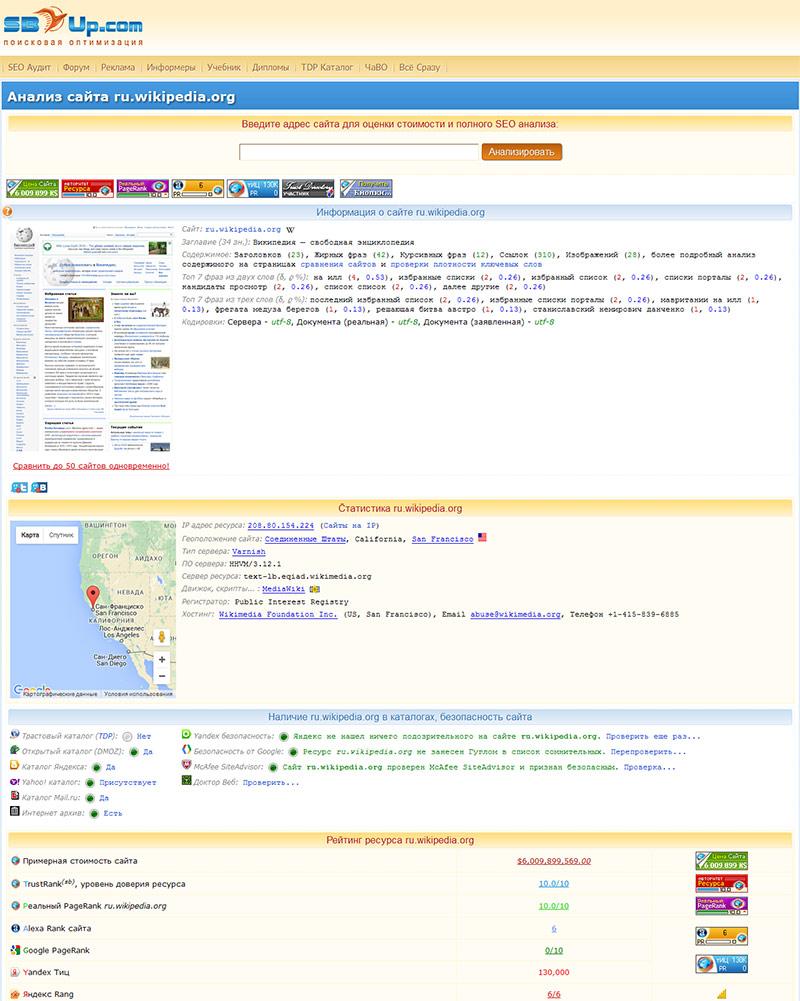 Проверка траста сайта с помощью полезных сервисов