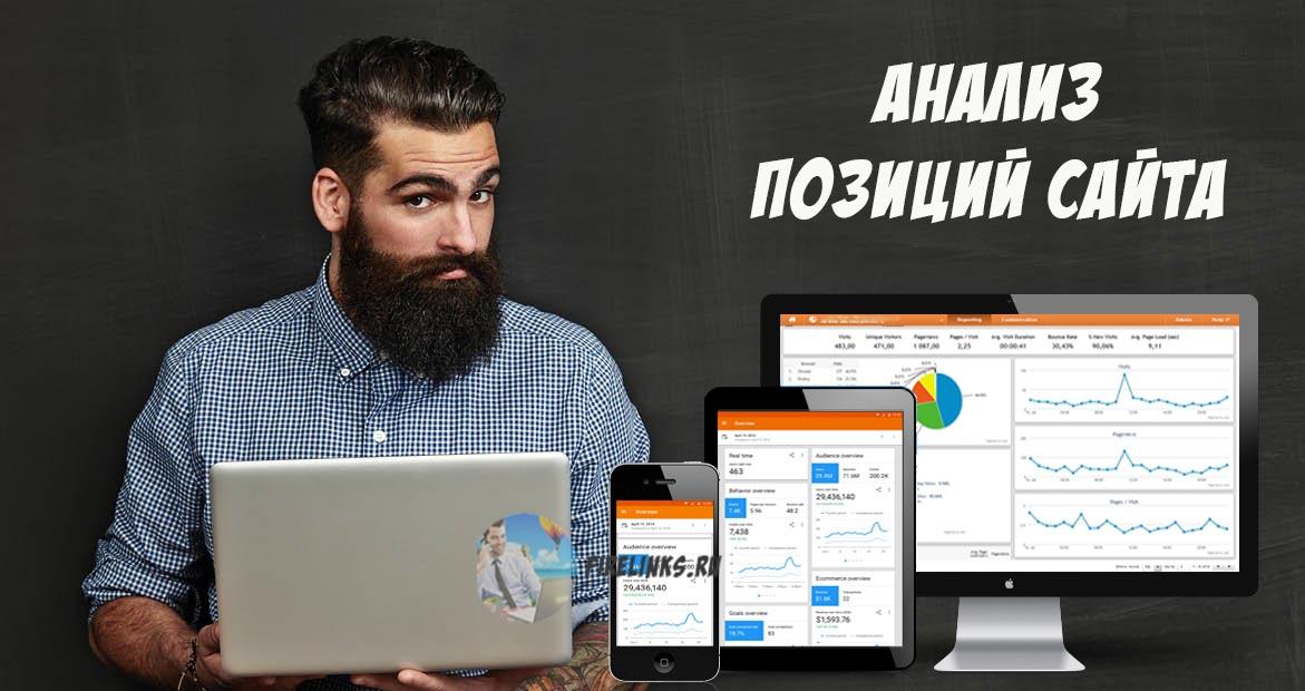 Проверить позиции сайта по запросам в Яндекс и Гугл с выдачей списка конкурентов для анализа