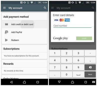 AndroidPIT play store add payment details w782