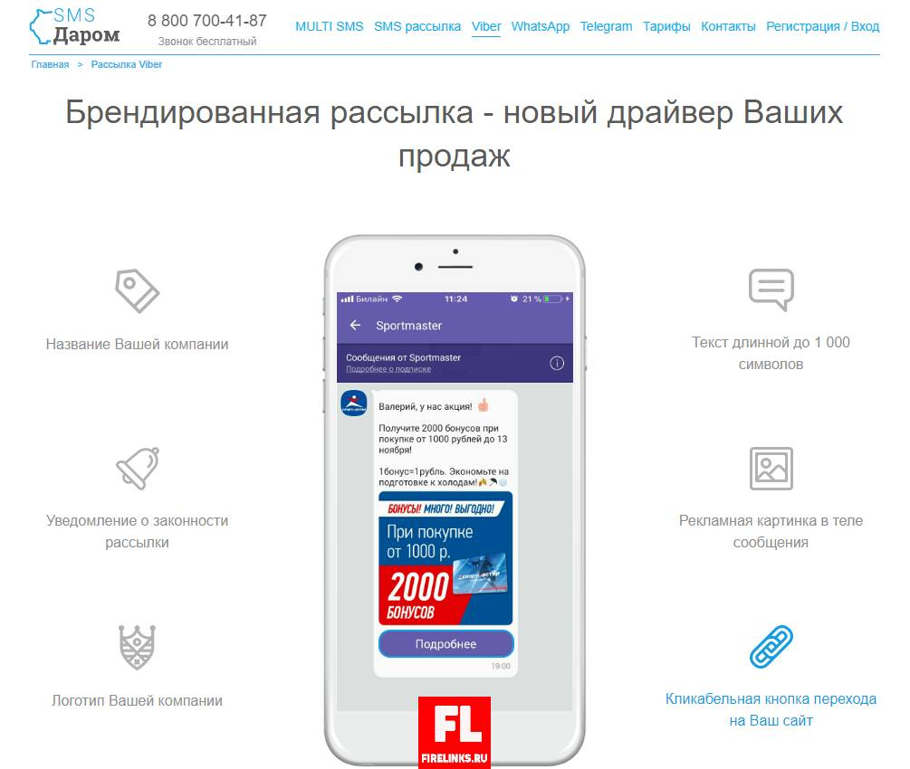 Брендирование СМС рассылок