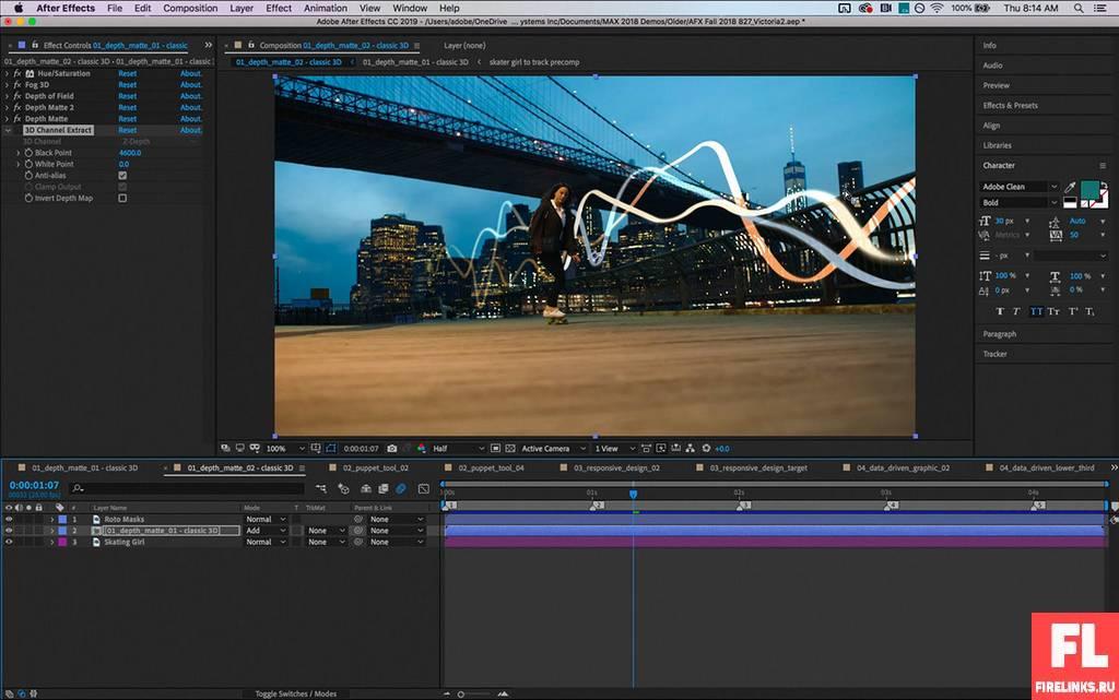 Видео редактор After Effects для монтажа видео и спецэффектов