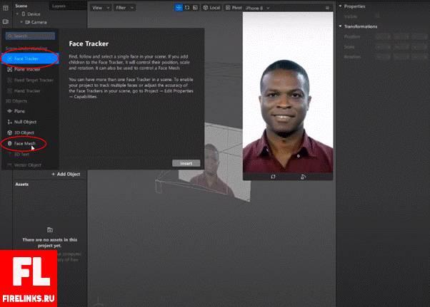 Face Tracker и Face Mash