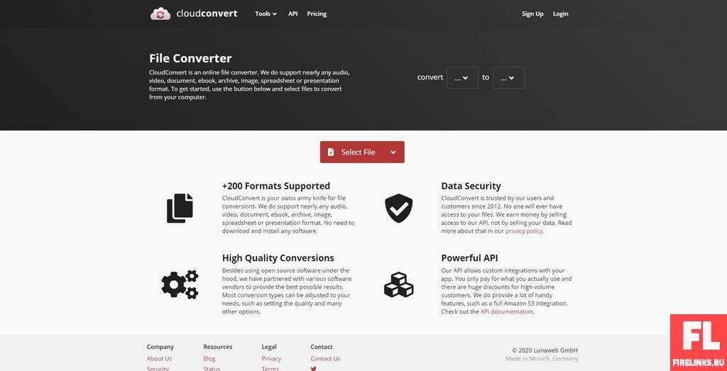 CloudConvert конвертирует pdf в word