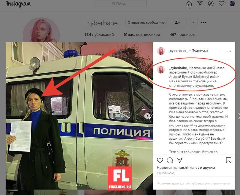 Заявление в полицию Алена Ефремова