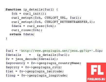 Как по ip адресу узнать местоположение компьютера или устройства + исходники кода и плагины